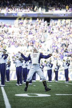 Husky Marching Band ready to rock it at the UW vs. Cal football game at Husky Stadium.