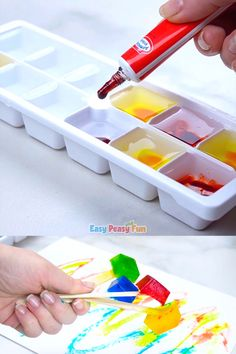 Painting With Ice – Make Your own Ice Paint