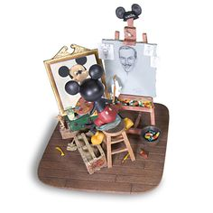Self-Portrait Walt Disney and Mickey Mouse