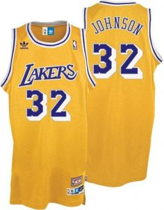 4eda62601 NBA Los Angeles Lakers Magic Johnson Swingman Jersey