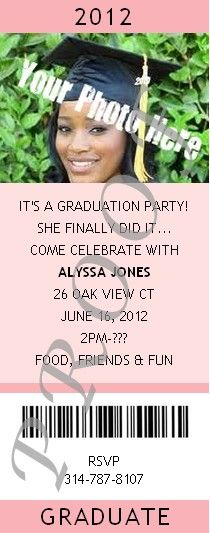 Graduation Party Invite or Announcement -  Use your own photo