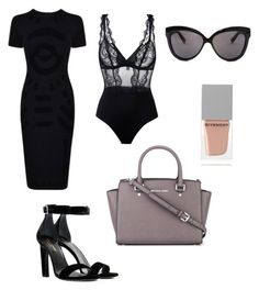 """""""Untitled #10"""" by chanelsugababy ❤ liked on Polyvore featuring McQ by Alexander McQueen, La Perla, MICHAEL Michael Kors, Yves Saint Laurent, Givenchy and Linda Farrow"""