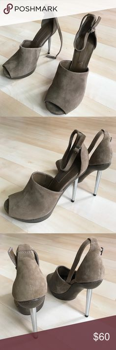 """New brown BCBGMAXAZRIA suede leather shoes New brown BCBGMAXAZRIA suede leather shoes. Heel height is 3,5"""", platform 1"""". Very soft and cool looking BCBGMaxAzria Shoes Heels"""