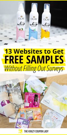 Free Samples Without Surveys, Free Samples By Mail, Free Makeup Samples, Free Product Samples, How To Start Couponing, Couponing For Beginners, Couponing 101, Extreme Couponing, Stuff For Free