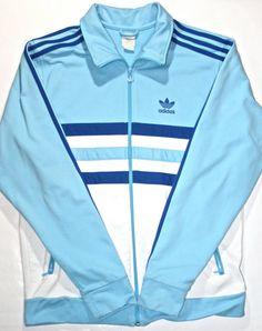 82450eb9bf Vintage 90's Adidas UNC Blue Track Jacket available at VintageMensGoods,  $42.00 Adidas Retro, Vintage