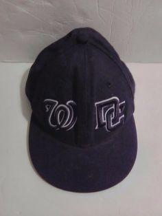 MLB Baseball Cap New Era 5950 WASHINGTON NATIONALS DC Fitted Hat Size 7 1 8 0d48b086b3de