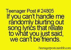 This says teenager post....but I am most definitely no longer a teenager and I still do this on a daily basis.