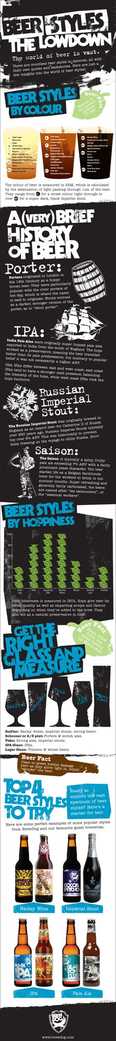 Craft beer styles infographic from BrewDog