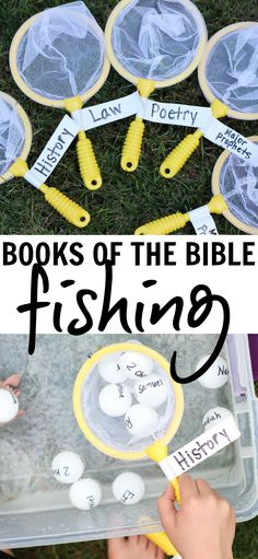 Books of the Bible Fishing:  A fun hands-on way to learn the books of the Bible and their categories.  A great Sunday School activity!