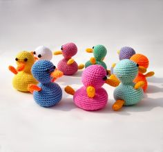 Crochet amigurumi duck in Mint Green