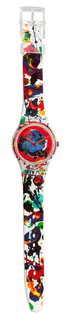 Swatch - Sam Francis. Quartz, Plastic. 34mm. LIMITED EDITION 48454/49999. Spring / summer 1991.