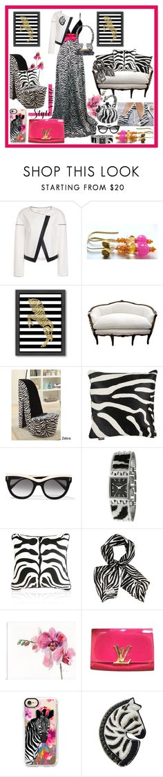 """""""Zebra White Black Stripes Contest"""" by belladonnasjoy ❤ liked on Polyvore featuring Americanflat, Amara, STELLA McCARTNEY, Peugeot, Longchamp, Louis Vuitton, Casetify and Forest of Chintz"""