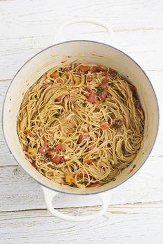 Whole Wheat One Pot Pasta | A Beautiful Mess | Bloglovin'