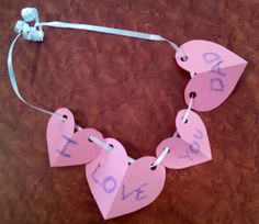 Valentine Craft Ideas With Crayon Resist. Valentines Day Special Craft 1 Heart Necklace  Crafts For Kids