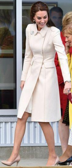 1 October 2016 Cream Catherine Walker Double-Breasted Coat