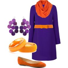 Clemson cold weather tailgating - not sure if I could pull it off, but very cute!