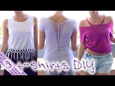 Cut Up Both Sides of T-Shirt Neckline - YouTube
