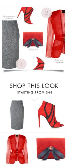 """""""#1 RED"""" by anja-m ❤ liked on Polyvore featuring RED Valentino, Balenciaga, MANGO, red, Elegant and simplebutneverplain"""