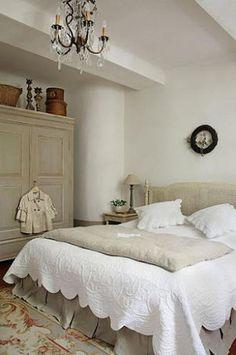 Decoración Chic y con Aire Provenzal en el Dormitorio