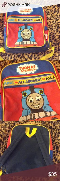 CHILDREN'S  THOMAS & Friends Backpack Thomas and Friends. Fun backpack for children. In good used condition. Areas of straps have soiling. Otherwise in good condition. ☘PLEASE READ SHOP POLICIES PRIOR TO PURCHASE. ☘ Thomas & Friends Accessories Bags