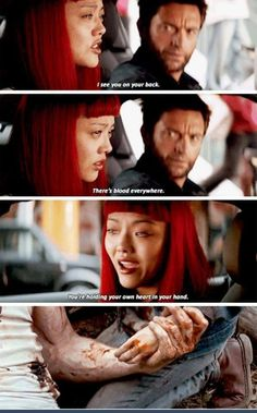 I saw the spoiler for Logan, and as I was watching the Wolverine for the first time I noticed that. Excuse me, I'm dead now. Marvel Dc Comics, Marvel Heroes, Marvel Funny, Captain Marvel, Comic Movies, Marvel Movies, Comic Books, Xman Marvel, Entertainment