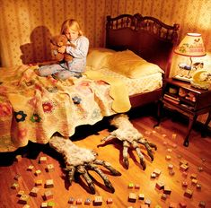 A well known photographer Joshua Hoffine has a rather unique talent of creating really creepy pictures. But this is not the most unusual thing about him, but the fact that the artist stages his two little daughters in recreation of kid's nightmares and movies! Though you can't say that t…