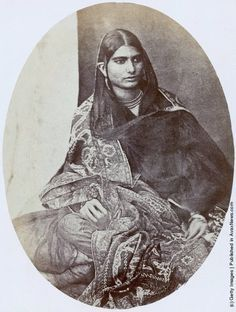 Old Portraits of Indians in the 19th Century Diljan, a bazaar woman in Saharanpur, Uttar Pradesh, India, circa 1870.