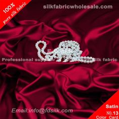 Purplish Red silk charmeuse fabric for women silk wedding dresses. Silk Satin Fabric online in high quality