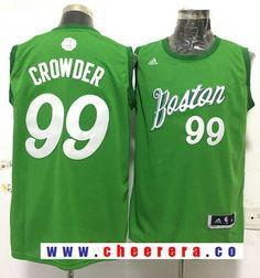 Men s Boston Celtics  99 Jae Crowder adidas Green 2016 Christmas Day  Stitched NBA Swingman Jersey 97bc87f6b