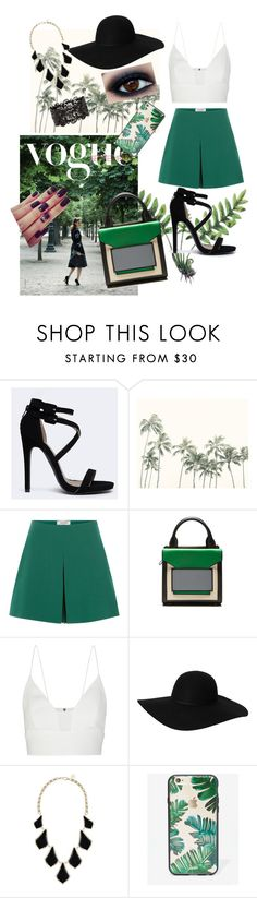 """green & Black"" by hmefop ❤ liked on Polyvore featuring Qupid, Valentino, Pierre Hardy, Narciso Rodriguez, Monki, Kendra Scott and Sonix"