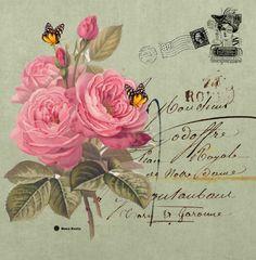 L%C3%A1mina+mariposas+y+rosas-Mi+Maleta+de+Recortes.jpg (846×862)