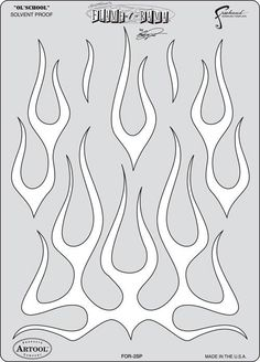 Ol' School - Craig Fraser Flame-O-Rama Airbrush Stencil   Airbrushing Supplies San Diego