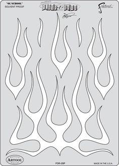 Ol' School - Craig Fraser Flame-O-Rama Airbrush Stencil | Airbrushing Supplies San Diego