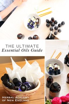 Learn how to get started using essential oils in recipes and remedies -- The Ultimate Essential Oils Guide by the Herbal Academy