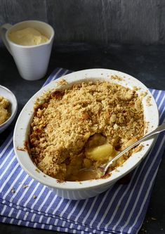 Apple And Almond Crumble | Dessert Recipes | Woman&home Oatmeal Recipes, Almond Recipes, Breakfast Recipes, Dessert Recipes, Desserts, Apple Crumble Recipe, Cooked Apples, Crumble Topping, Pastry Cake