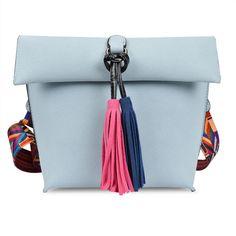 Antbook Fashion Lady's Bag Pu Leather Tassel Women Messenger Bag Solid Shoulder Bag Designer High Quality Summer Women Handbags. Yesterday's price: US $15.00 (13.10 EUR). Today's price: US $12.00 (10.45 EUR). Discount: 20%.