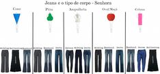JEANS PARA CADA TIPO DE CORPO | BE SUIT                                                                                                                                                      Mais