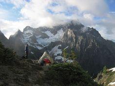 Mountain campsite.