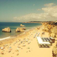 Praia da Rocha, beautiful beach in the Algarve, Portugal