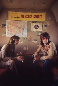 Keith Richards and Charlie Watts sit it out by Ethan Russel (1972)