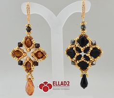 Easy and fun beading projects with Silky beads and Superduo beads. This is the tutorial with two different pattern for the Silky Earrings.