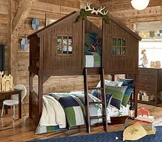 Tree House Twin-over-Twin Bunk Bed