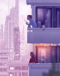 """36.4k Likes, 126 Comments - Pascal Campion Art (@pascalcampionart) on Instagram: """"Points of views. A familiar theme. Looking at the same picture but seeing a different story. It's a…"""""""