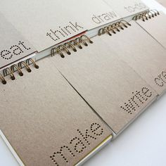 Verb notebooks by Painted Fish Studio
