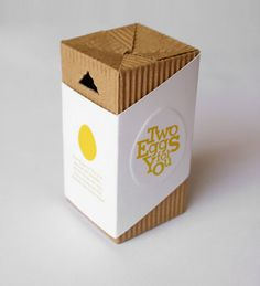 This packaging is well designed and the label design is used well by the way it is aligned against the product. The material used gives it an organic touch with a simple type used in a subtle piece of imagery.