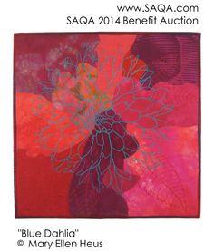 Art quilt by Mary Ellen Heus #artquilts #SAQA