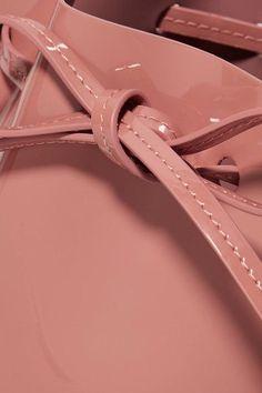 Mansur Gavriel - Mini Mini Patent-leather Bucket Bag - Blush - one size