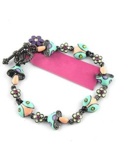Multicolor Lovely Alloy Toggle Bracelet