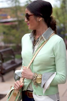 In love with this mint sweater.