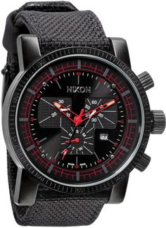 Nixon The Magnacon Watch in Black for Men (red/ black) - Why is my taste so expensive?!